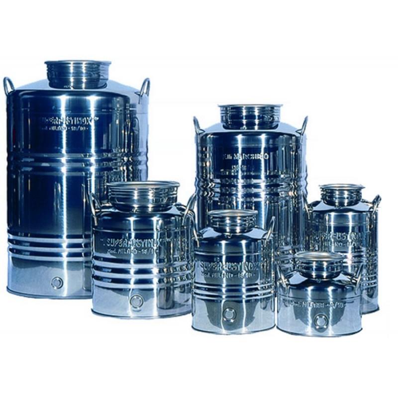 FUT INOX 100 litres avec poignée